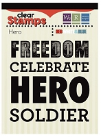 We-R-Memory Keepers - Red White Blue - Hero - Clear Stamp