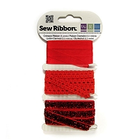 We-R-Memory Keepers - Sew Ribbon Set - Crimson :)