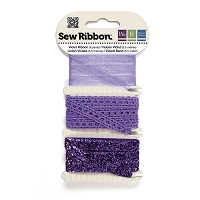 We-R-Memory Keepers - Sew Ribbon Set - Violet