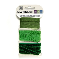 We-R-Memory Keepers - Sew Ribbon Set - Grass