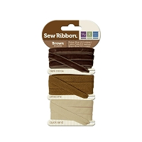 We-R-Memory Keepers - Sew Ribbon Set - Chocolate