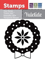 We-R-Memory Keepers - Yuletide Collection - Clear Stamp - Wreath