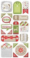 We-R-Memory Keepers - Yuletide Collection - Layered Chipboard Tags