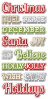 We-R-Memory Keepers - Yuletide Collection - Embossed Stickers
