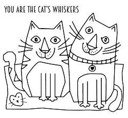 Woodware Craft - Clear Stamp - Cats Whiskers
