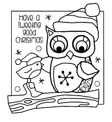 Woodware Craft - Clear Stamp - Tweeting Christmas
