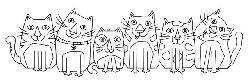 Woodware Craft - Clear Stamp - Les Chats