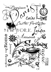 Woodware Craft - Clear Stamp - Travel Background