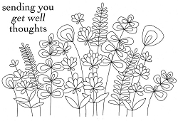 Woodware Craft - Clear Stamp - Flower Stems