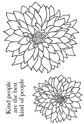 Woodware Craft - Clear Stamp - Bold Blooms Delilah :)