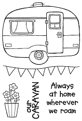 Woodware Craft - Clear Stamp - Caravan :)