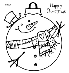 Woodware Craft - Clear Stamp - Large Snowman Bauble