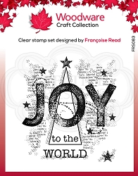 Woodware Craft - Clear Stamp - Joy