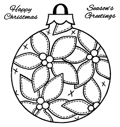 Woodware Craft - Clear Stamp - Patch Poinsettia Bauble