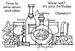 Woodware Craft - Clear Stamp - Time To Wine
