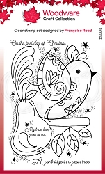 Woodware Craft - Clear Stamp - Partridge