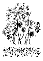 Woodware Craft - Clear Stamp - Grasses