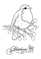 Woodware Craft - Clear Stamp - Fluffy Robin