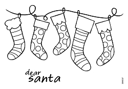 Woodware Craft - Clear Stamp - Stockings in A Row