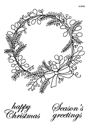 Woodware Craft - Clear Stamp - Sketchy Wreath