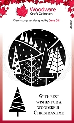 Woodware Craft - Clear Stamp - Festive Circle