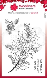 Woodware Craft - Clear Stamp - Sketchy Sprigs