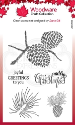 Woodware Craft - Clear Stamp - Sketchy Pine Cones