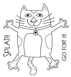 Woodware Craft - Clear Stamp - Splat Cat