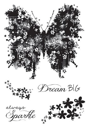 Woodware Craft - Clear Stamp - Butterfly Sparkle