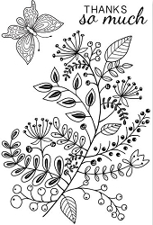 Woodware Craft - Clear Stamp - Mixed Stem