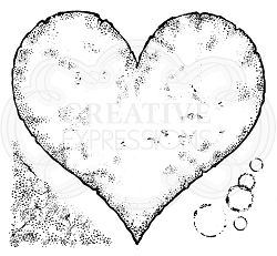 Woodware Craft - Clear Stamp - Torn Paper Heart