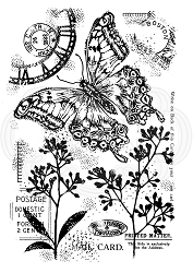 Woodware Craft - Clear Stamp - Vintage Swallowtail