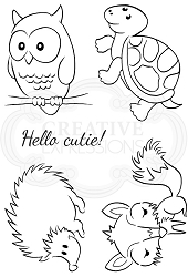 Woodware Craft - Clear Stamp - Cheeky Critters