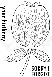 Woodware Craft - Clear Stamp - Bold Blooms Olivia