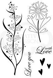 Woodware Craft - Clear Stamp - Rustic Hearts