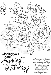 Woodware Craft - Clear Stamp - Classic Rose Bunch