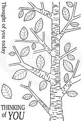 Woodware Craft - Clear Stamp - Silver Birch Tree