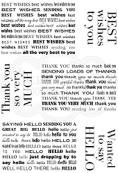 Woodware Craft - Clear Stamp - Mini Background Greetings
