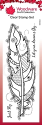 Woodware Craft - Clear Stamp - Large Feather