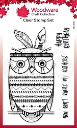 Woodware Craft - Clear Stamp - Bo-Hoot!
