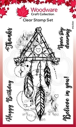 Woodware Craft - Clear Stamp - Dream Catcher