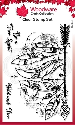 Woodware Craft - Clear Stamp - Feathered Arrow