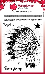 Woodware Craft - Clear Stamp - Headdress