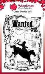 Woodware Craft - Clear Stamp - Wanted