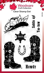 Woodware Craft - Clear Stamp - Howdy Cowboy