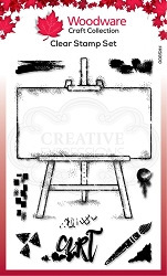 Woodware Craft - Clear Stamp - Art Easel