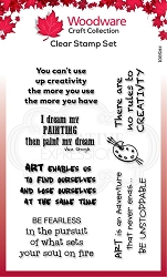 Woodware Craft - Clear Stamp - Creative Quotes