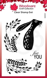 Woodware Craft - Clear Stamp - Hare in the Middle