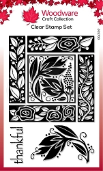 Woodware Craft - Clear Stamp - Floral Block