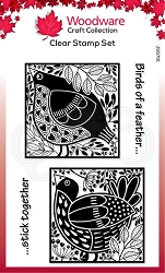 Woodware Craft - Clear Stamp - Bird Blocks